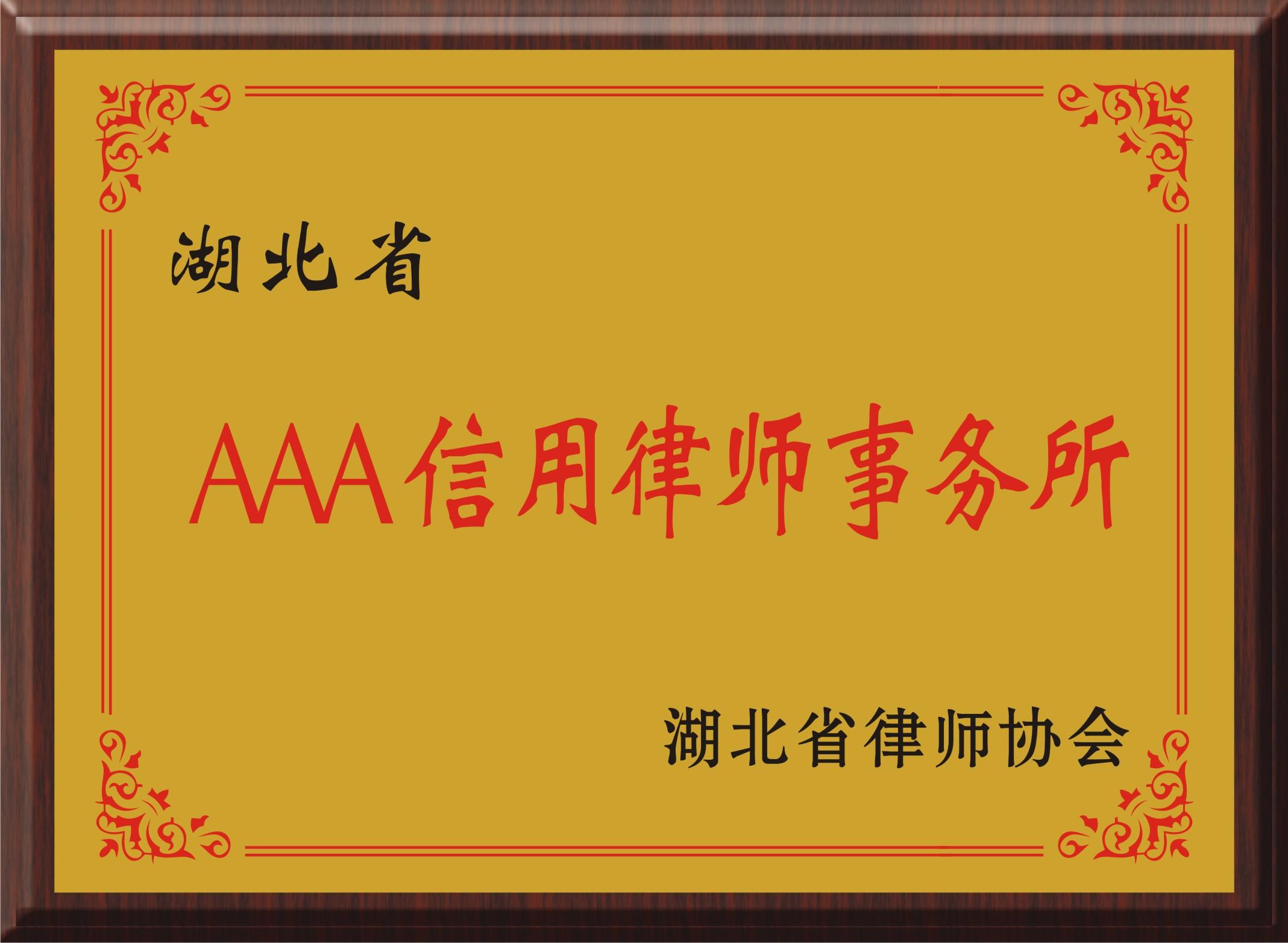 湖北省AAA级信用必威体育中文版事务所